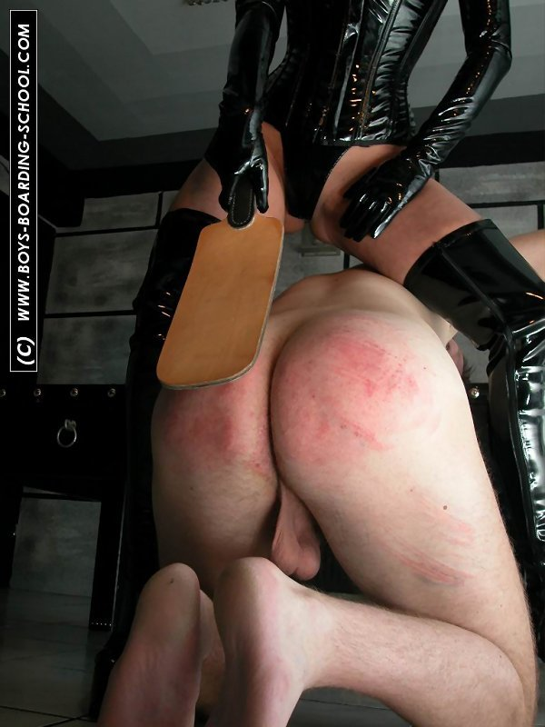 Spanking boys in school